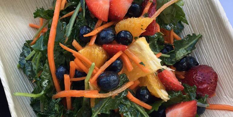 Blueberry kale citrus salad