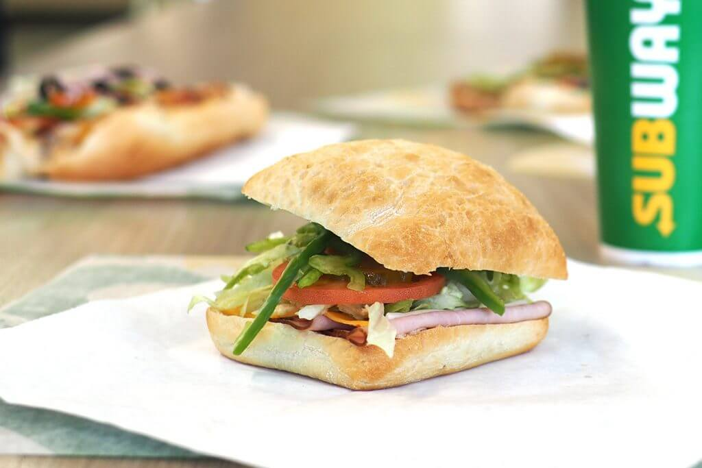 Subway panini sandwich