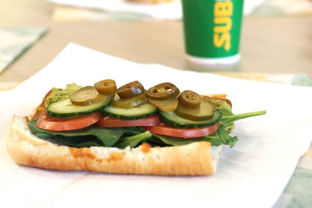 Subway veggie sandwich