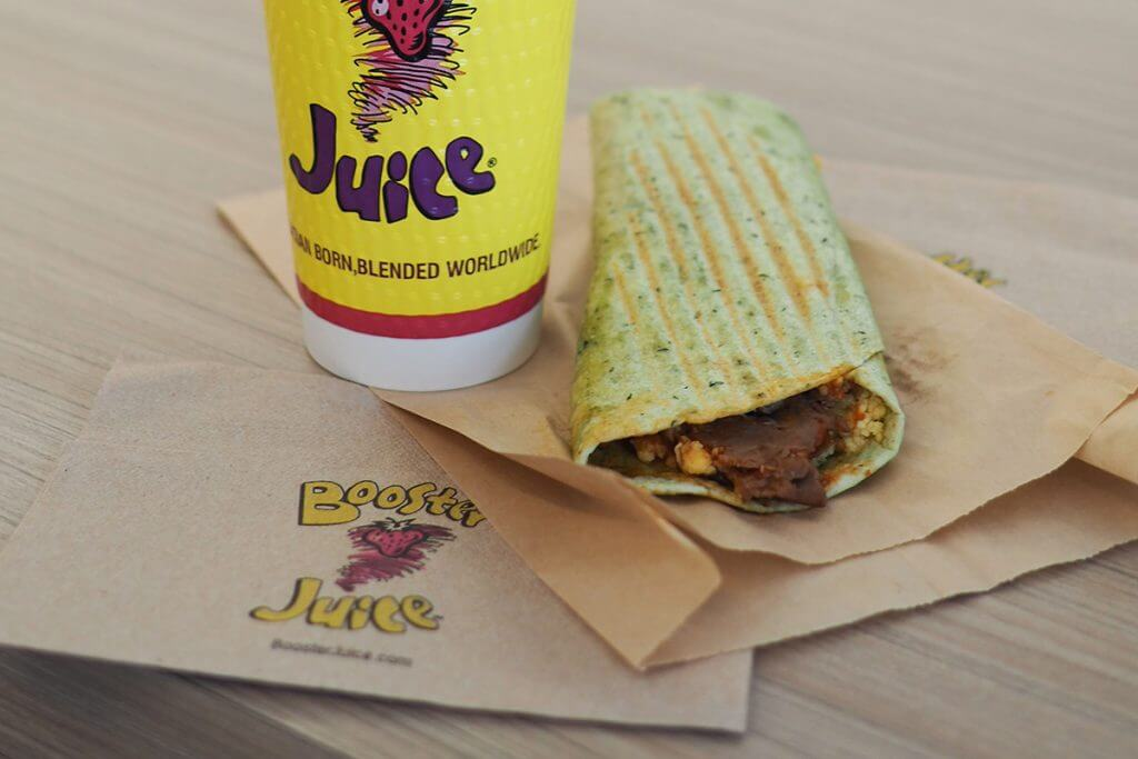 Booster Juice wrap