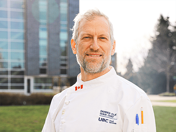 Photo of Darren Clay, UBC Food Services