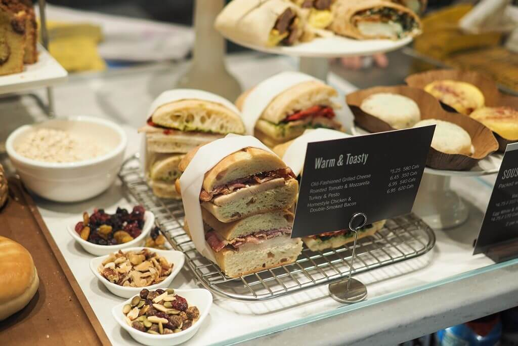 Starbucks sandwich display
