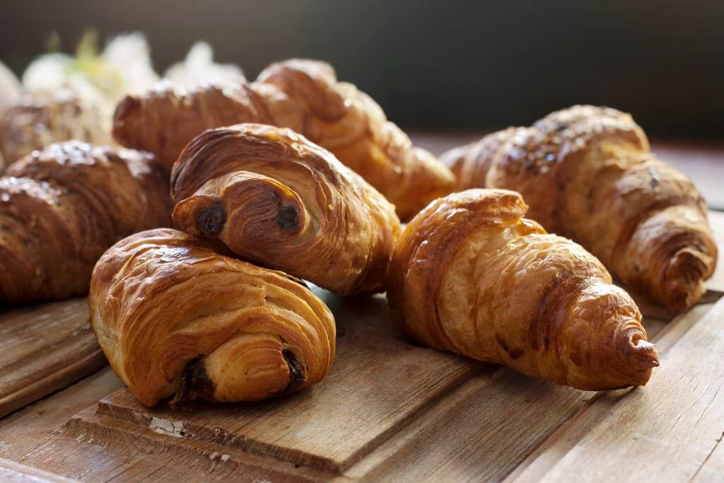 Various types of croissants
