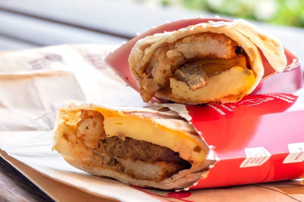Tim Horton's breakfast wrap