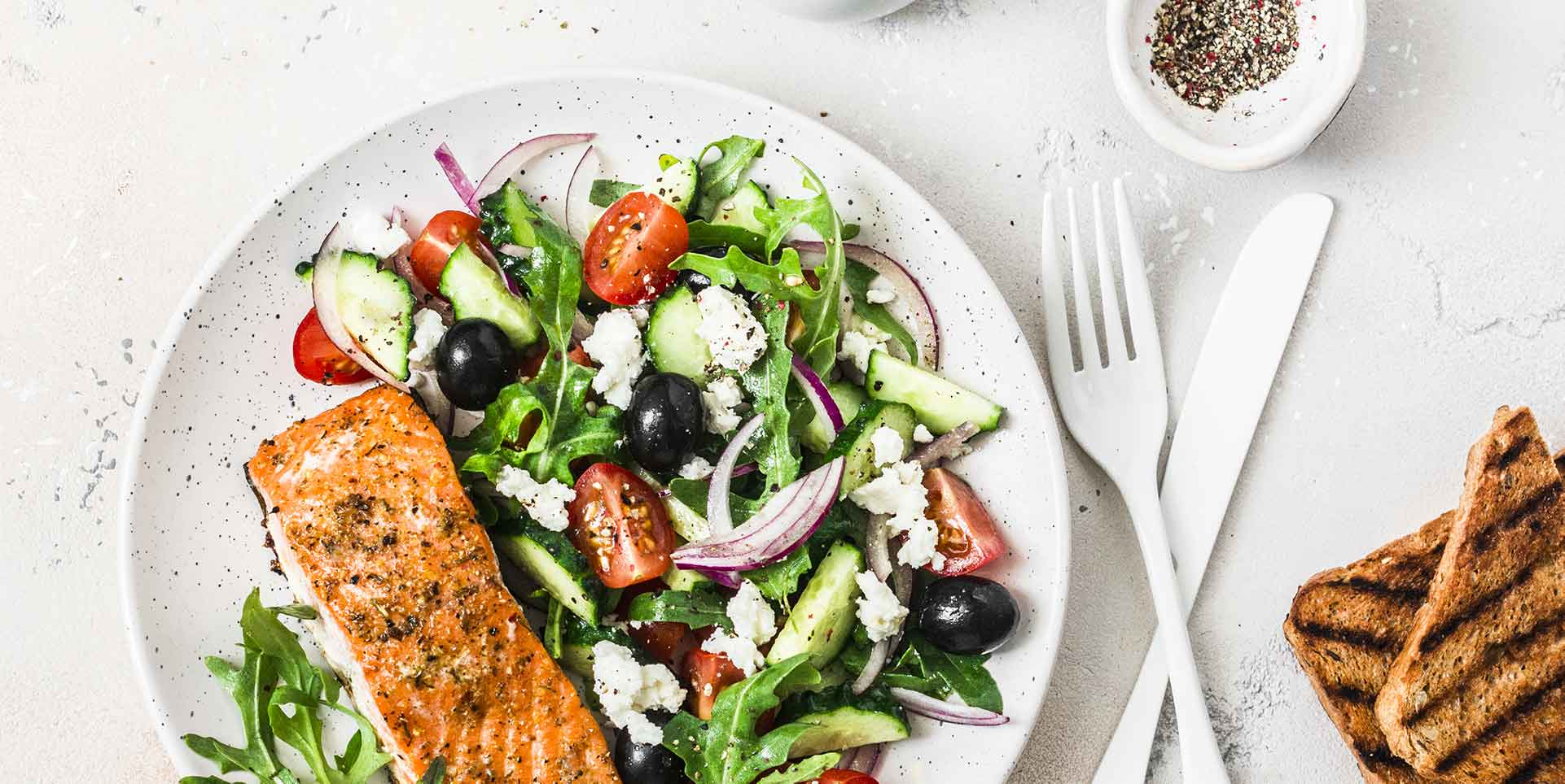 Salmon and Dark Leafy Greens plate